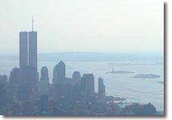 New York Skyline from Empire State Building: 9th September 2001