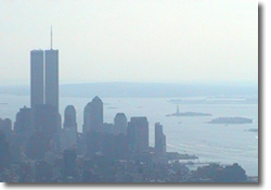 New York Skyline from Empire State Building: 9th September 2001